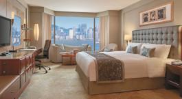 Deluxe room at Kowloon Shangri-la Hotel in Hong Kong, China