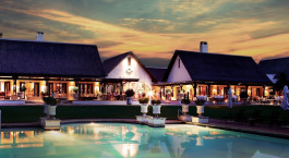 Exterior view of Royal Livingstone in Victoria Falls, Zambia