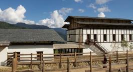 Auu00dfenansicht von Gangtey Goenpa, Gangtey, Bhutan