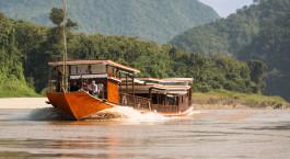 Auu00dfenansicht von Luangsay Cruise in Luang Prabang / Mekong, Laos