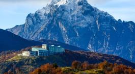 Auu00dfenansicht in Hotel Arakur Ushuaia Resort & Spa, Ushuaia, Argentinien