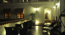 Outside Dining, Hotel Parador Santa Maria La Real, Sucre, Bolivia, South America
