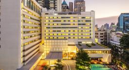 Auu00dfenansicht des COMO Metropolitan Bangkok Hotel in Bangkok, Thailand