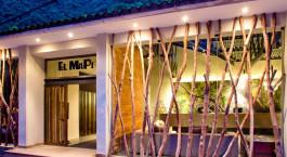 Auu00dfenansicht von El Mapi Hotel in Machu Picchu Pueblo, Peru
