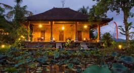 Auu00dfenansicht im Hotel Subak Tabola Villa, Sidemen in Indonesien