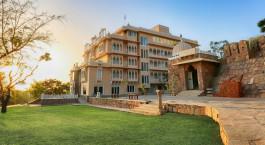 Auu00dfenansicht von Hotel Fateh Niwas, Udaipur, Nordindien