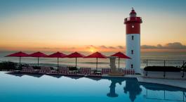 Pool mit Blick aufs Meer im Oyster Box Hotel & Spa in Durban, Su00fcdafrika