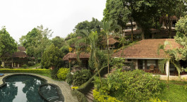 Pool and Outside view of Cardamom County, Thekkady, Kerala, South India, Asia