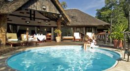 Privater Pool im Victoria Falls Hotel, Victoria Falls, Simbabwe