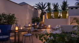 Restaurant im Riad Farnatchi Hotel in Marrakesch, Marokko
