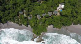 Luftaufnahme von Arenas del Mar Hotel in Manuel Antonio, Costa Rica