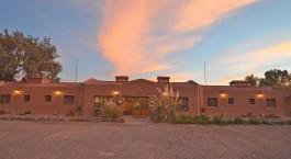 Auu00dfenansicht vom La Casa de Don Tomas Hotel, San Pedro de Atacama, Chile