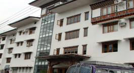Auu00dfenansicht von Lhaki Hotel,  Phuentsholing in Bhutan
