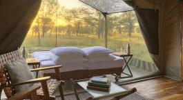 Zeltausblick im Olakira Camp N in Nu00f6rdliche Serengeti, Tansania