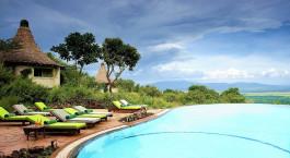 Pool area at Lake Manyara Serena Lodge, Lake Manyara & Ngorongoro, Tanzania