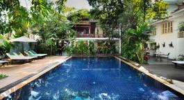 Swimmingpool  von Villa Langka Hotel,  Phnom Penh in Kambodscha