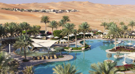 Bird's eye view of Qasr Al Sarab Desert Resort by Anantara in Abu Dhabi