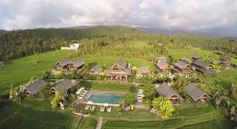 Luftaufnahme von Sanak Retreat in Munduk, Indonesien