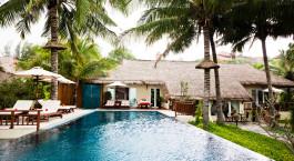 Pool im Victoria Phan Thiet Beach Resort & Spa Hotel in Mui Ne, Vietnam