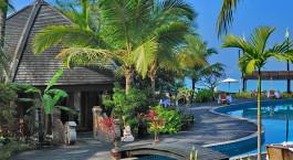 Auu00dfenansicht, Aureum Resort & Spa, Ngapali Strand in Myanmar