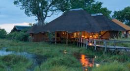 Auu00dfenansicht von Lebala Camp in Okavango Delta, Botswana
