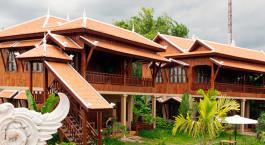 Auu00dfenansicht imHotel Maisons Wat Kor Hotel in Battambang, Kambodscha