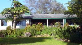 Auu00dfenansicht des Norma Jeans Lakeview Resort Hotel in Simbabwe