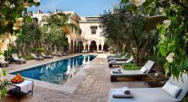Swimmingpool im La Villa Des Orangers Hotel in Marrakesch, Marokko