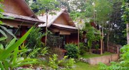 ein kleines Haus im Garten