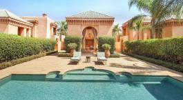 Pavilion Pool im Amanjena Hotel in Marrakesch, Marokko