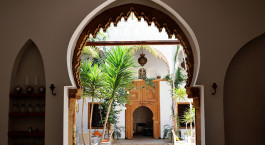 Innenhof von Raid Kalaa, Rabat, Marokko