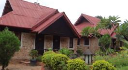 Auu00dfenansicht von Inle Inn, Pindaya in Myanmar