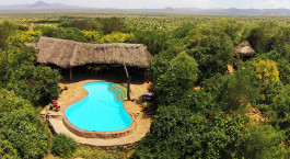Swimmingpool im Il Ngwesi in Laikipia - Community Reserves, Kenia