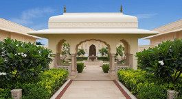 Auu00dfenanlage des The Oberoi Sukhvilas Spa Resort in Chandigarh, Nordindien