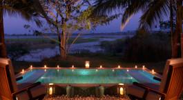 Swimmingpool im The Serai Kabini in Nagarhole, Su00fcdindien