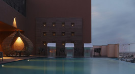 Pool at Novotel Lucknow Gomti Nagar Hotel in Lucknow, North India