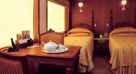 Enchanting Travels India Tours Maharajah Express Train cabin