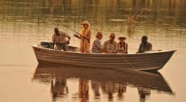 Unser Gu00e4ste beim Fischen im Kanga Camp in Mana Pools, Zimbabwe