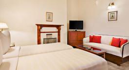 Bedroom, Clarkes Hotel, Shimla, Himalayas, India, Asia