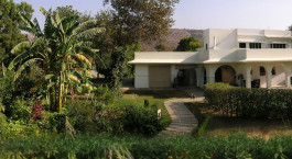 Auu00dfenansicht im Khem Villas, Ranthambore in Nordindien