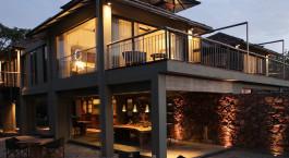 Auu00dfenansicht der Kaav Safari Lodge in Nagarhole, Su00fcdindien