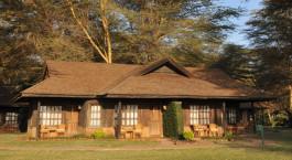 Auu00dfenansicht im Hotel Ol Tukai Lodge in Amboseli, Kenya
