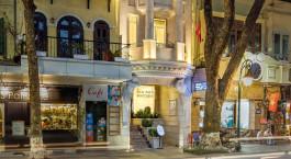 Auu00dfenansicht im Silk Path Hotel in Hanoi, Vietnam