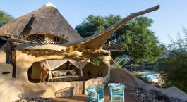 Auu00dfenansicht von Chongwe River Camp in Lower Zambezi, Sambia