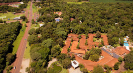Vogelperspektive des San Martin Foz do Iguacu Hotel in Foz do Iguau00e7u, Brasilien
