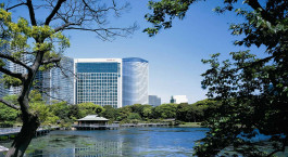Auu00dfenansicht von Hotel Conrad Tokyo, Tokio, Japan