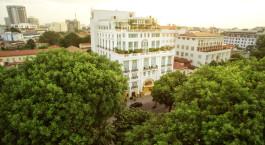 Auu00dfenansicht im the Apricot Hotel, Hanoi, Vietnam