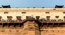 Auu00dfenansicht von Hotel Suryauday Haveli, Varanasi, Nordindien