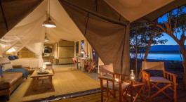 Zimmeransicht im Ruckomechi Camp in Mana Pools, Zimbabwe