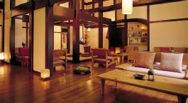 Lobby at hotel Oyado Koto no Yume, Takayama, Japan